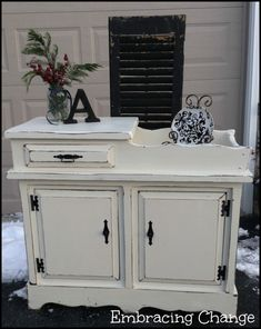 Winter White Dry Sink Makeover - Embracing Change