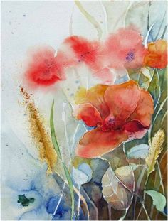Before the last harvest (c) a watercolor of poppies FRank Koebsch, 30 x 40 cm, $285, if you feel interested in how the picture is created, use this link http://frankkoebsch.wordpress.com/2011/09/06/vor-der-letzten-ernte-c-ein-mohn-aquarell-von-frank-koebsch/
