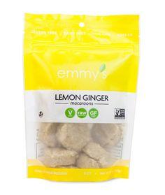 Emmy's Organics Lemon Ginger Macaroons (6 oz) #emmysorganics #vegan #glutenfree BIG BAGS YAY!!