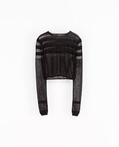 ZARA - NEW THIS WEEK - SHORT SWEATER WITH TRANSPARENT STRIPES