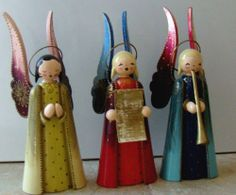 """"""" Wooden Figures from the Ore Mountains (Erzgebirge) """" Christmas In Germany, German Christmas, Christmas Wood, 1st Christmas, Christmas Angels, Vintage Christmas, Christmas Holidays, Christmas Crafts, Wooden Christmas Decorations"""