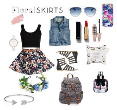 """""""Floral skirt Contest"""" by rachela5 ❤ liked on Polyvore featuring Calvin Klein Collection, J.Crew, Christian Dior, Jane Iredale, Chanel, River Island, Sephora Collection, Maybelline, Lilly Pulitzer and Yves Saint Laurent"""