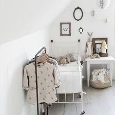 adorable neutral nursery | gray + creams + white + black