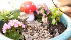 Learn how to create your own adorable Fairy Garden! Makes for whimsical home decor! #homedecor #fairygarden #tiffyquake