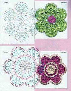 Patron_de_dos-flores-a-crochet http://ideascrochet.com/patron-de-dos-flores-a-crochet/530/