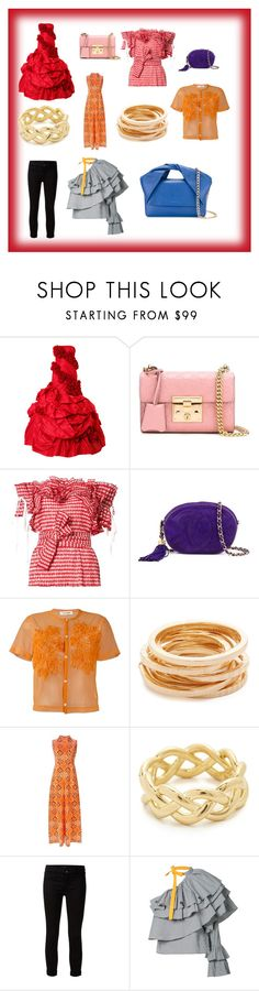 """Fashion article s"" by emmamegan-5678 ❤ liked on Polyvore featuring Rubin Singer, Gucci, Rosie Assoulin, Chanel, Comme des Garçons, Kenneth Jay Lane, Givenchy, Soave Oro, J Brand and J.W. Anderson"