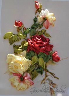 *RIBBON ART ~ Gallery.ru / Photo # 66 - Embroidery ribbons - galinaaa