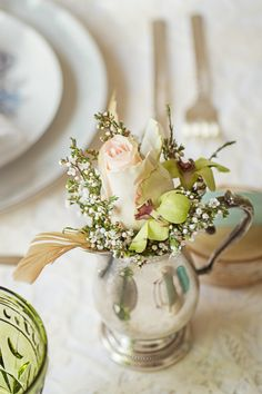 As seen on Wedding Chicks....  http://www.weddingchicks.com/2013/08/13/urban-vintage-inspirational-shoot/  vintage table decoration ideas
