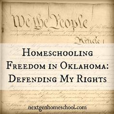 NextGen Homeschool / Homeschooling Freedom in Oklahoma - Defending My Rights