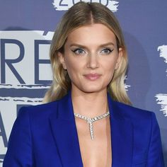 Lily Donaldson donned a Bulgari Serpenti diamond necklace with a matching bracelet. Cannes 2016