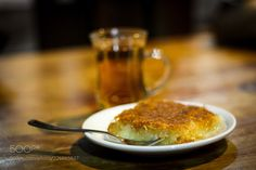 Herbal tea and Knafeh (Benyamin Shoham / Shorashim / Israel) #Canon EOS 700D #food #photo #delicious