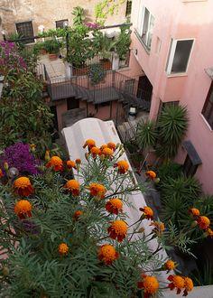 Rom, Via del Biscione, Albergo del Sole, Innenhof (courtyard)