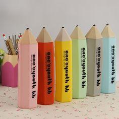 Pencil Shape Candy Colors 6 Colors Available Multifunctional Pen Bag