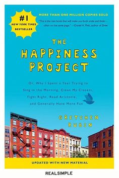10 Good Books to Read to Feel Happy | One day, Gretchen Rubin decided to live her life to the fullest. So she started putting all the advice she could find about how to be happy to the test. From spiritual practices, science, and pop culture, Rubin tried to discover how she could be truly happy. Now that you're in a good mood, take it to the next level and pursue your bliss. #realsimple #bookrecomendations #thingstodo #bookstoread Get Happy, Are You Happy, Happiness Project, Penguin Books, One In A Million, Childrens Books, My Books, Novels, This Book