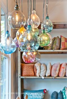 Multicoloured hanging lights! :)
