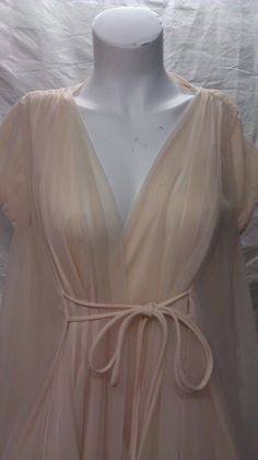 Frothy peachy pink peignoir by DaisyChainpdx on Etsy, $75.00