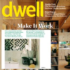 A bathroom remodel with a twist! 😮 In @dwellmagazine, artist Christopher James was inspired to create a custom #GranadaTile pattern in homage to 60's op art. Customize your own #concretetiles and let your personality shine through. Shop now! Bathroom Tile Installation, Next Bathroom, Encaustic Tile, Linear Pattern, Concrete Tiles, Can Design, Op Art, Granada, Backsplash