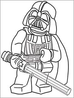 Lego Star Wars Tegninger til Farvelægning for børn 12