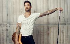 Adam Levine Singer Hd Widescreen Wallpaper Male Singers Backgrounds 1920x1200px