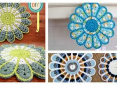 Colorful Crochet Flower Pot Holder with FREE Pattern