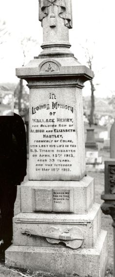 Hartley's body was recovered from Titanic's wreckage as body No. 224, returned to Colne, Lancashire and buried on May 18, 1912. It was estimated that upwards of 40,000 people showed up to watch the funeral procession and attend the funeral. His interment received extensive coverage by the international press. To this day several elaborate memorials or statues pay tribute to his service on Titanic.