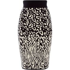 Biba Leopard Knitted Skirt (930 ZAR) ❤ liked on Polyvore featuring skirts, women skirts, leopard pencil skirt, biba skirts, leopard print pencil skirt, cotton skirts and leopard print skirt
