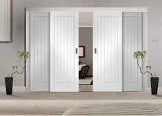 Easi-Slide White Room Divider Door System - Internal Room Dividers