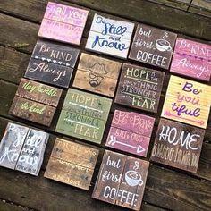 Mini Pallet Signs Wood Signs sayings sunshine por R2KPallet