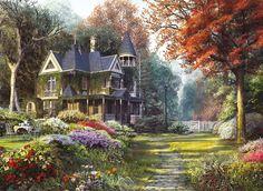 Clementoni Puzzle 1000 Teile Viktorianisches Haus im Garten (39172) in Spielzeug, Puzzles & Geduldspiele, Puzzles | eBay