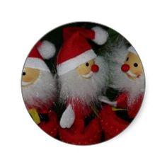 Santa Crafts Dolls Gifts for Santa Collectors Round Sticker
