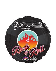 Foil Rock and Roll Balloon 18in - Party City