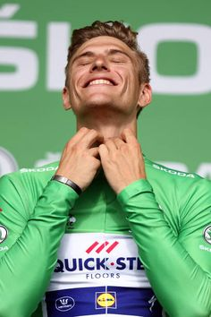 Marcel Kittel of Germany and QuickStep Floors retained his green points jersey after his fifth win on stage eleven of Le Tour de France 2017 a 2035km...
