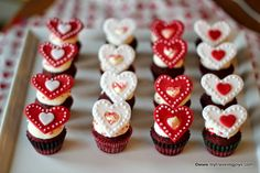 Valentine's Day Red Velvet Mini Cupcakes ~ My Traveling Joys