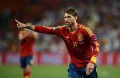 Sergio Ramos celebrating after his brilliant penalty kick against Portugal Penalty Kick, Kicks, Celebrities, Sports, Portugal, Style, Sergio Ramos, Red, Hs Sports
