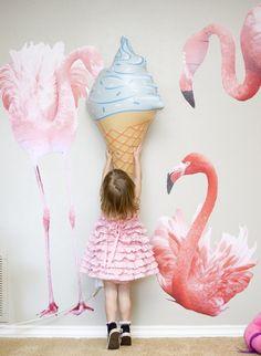 Flamingo themed birthday party via Kara's Party Ideas KarasPartyIdeas.com #flamingoparty (14)