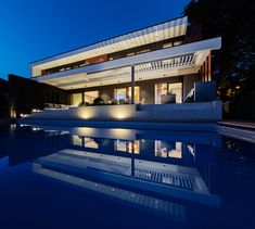 Modern Villa in Budapest is an exceptional project was designed by Toth Project and complected in This 343 square meter home opens modern living space Pool At Night, Square Meter, Budapest Hungary, Night Time, Luxury Lifestyle, Luxury Homes, Living Spaces, Modern Design, Villa