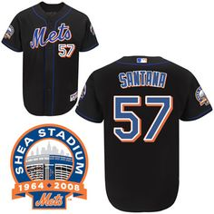 Johan Santana Black Jersey $18.99  This jersey belongs to Johan Santana, New York Mets #57  Color: black Size: M, L, XL, XXL, XXXL  The jersey is made of heavy fabric with nylon diamond weave mesh