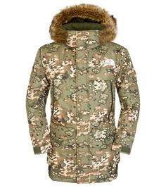 The North Face Parka para hombre McMurdo MILITARY GREEN CAMO PRINT
