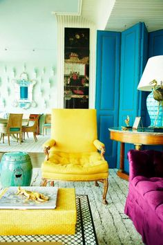 Luxurious yet cheery | Pops of color | Bright | Color | Decorate | Design | Home Design | Interior Design