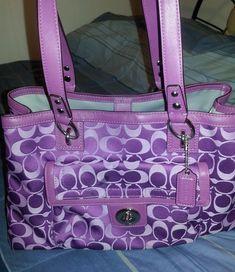 Coach Purple Satchel Purse | eBay