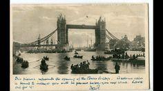 Vintage London, Small Boats, Tower Bridge, Brooklyn Bridge, Postcard Size, Vintage Postcards, Journey, Black And White, Travel