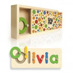 A Gorgeous Present For First Birthday Educational Bright Fun And Helps Them To Learn Their Name Plus It Comes In Its Own Wooden Box