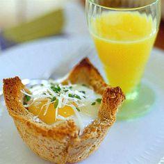 Baker's Dozen Eggs - eggs in a cute little toast cup