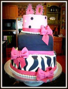 Flirty 40th Birthday Cake