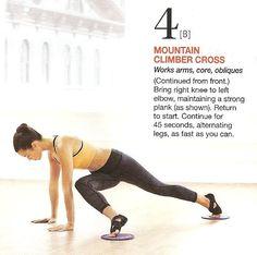 MOUNTAIN CLIMBER CROSS 4B Mountain Climbers, Abdominal Exercises, Butt Workout, Bring It On, Legs, Belly Exercises, Ab Workouts, Butt Workouts, Bridge