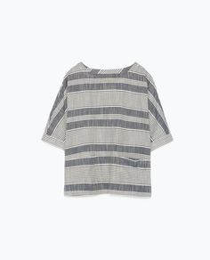 Image 6 of STRIPED BLOUSE from Zara