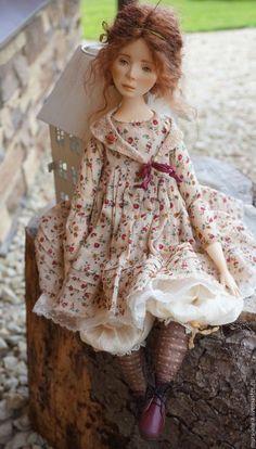 "Коллекционные куклы ручной работы. Коллекционная кукла ""Жюли"".. Анна Мурсалова. Ярмарка Мастеров. Авторская ручная работа, Паперклей Mori Fashion, Polymer Clay Dolls, Paperclay, Fairy Dolls, Girl Doll Clothes, Doll Patterns, Blythe Dolls, Beautiful Dolls, Baby Knitting"