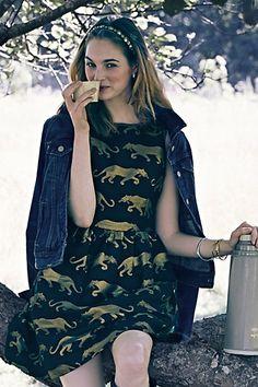 Adorable panther dress