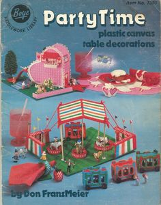 Plastic+Canvas+Pattern+Booklet+Table+Decorations+Party+Time+1982