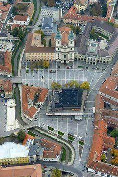Eger madártávlatból- Dobó tér Montenegro, Slovenia, Homeland, Budapest, Croatia, City, Pictures, Collections, Photos